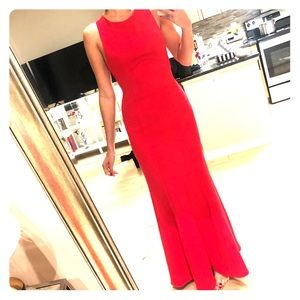 BCBG red dress door length size 2
